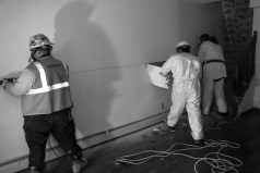 #13 Removing dry wall because of all the mold and mildew