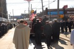 #13 The casket on the Fire Truck Funeral Caisson