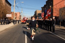 #1`The funeral of Firefighter Andrew Dal Cortivo was in January 2013. He died from injuries sustained from working on the pile after the Sept 11th attacks