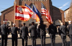 #5 The elite color guard in front of the casket
