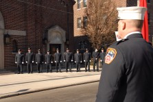 #9 The honor guard outside the church